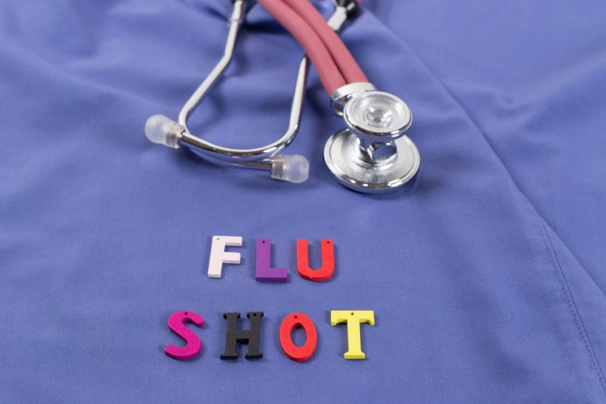 Flu Shot, Doctor and stethoscope