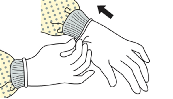 Extend to cover wrist of isolation gown