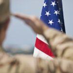 military, flag, salute