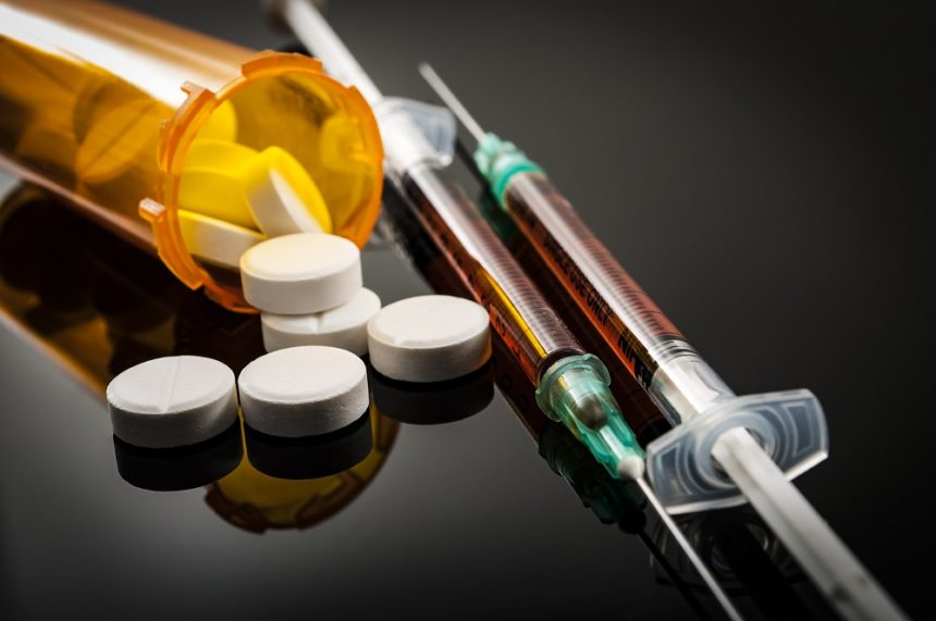opioid abuse, syringe, pills