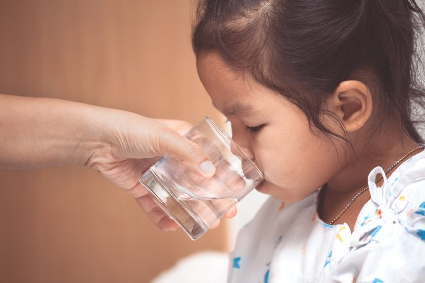 Pediatric Patient drinking water