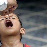 Polio vaccine administered to child