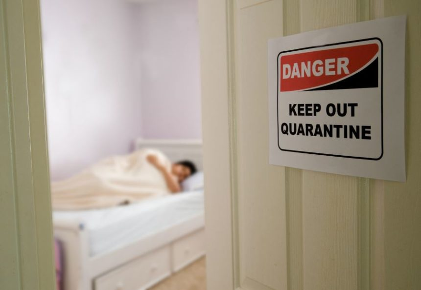 A quarantined bedroom