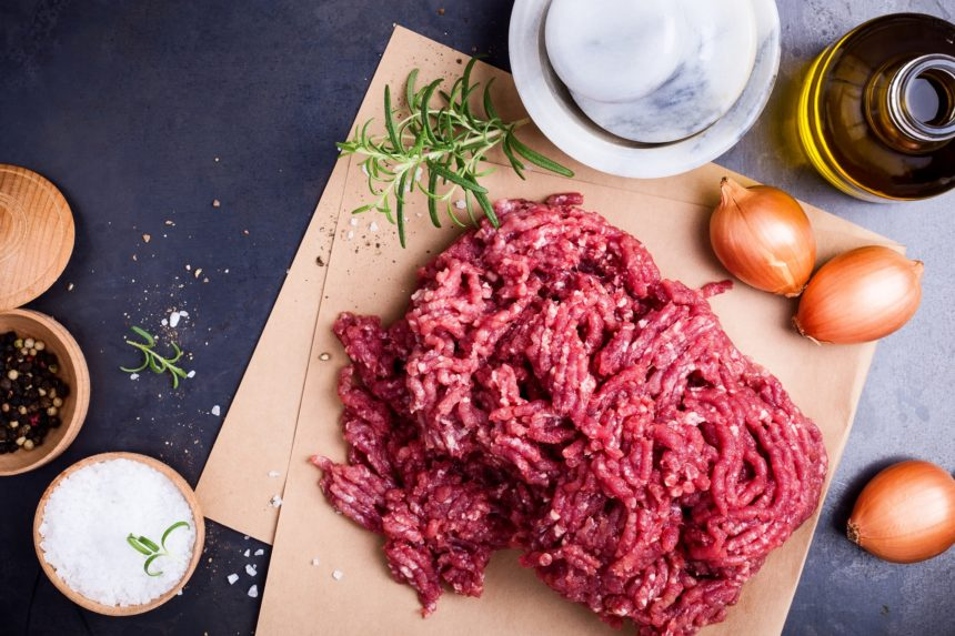 Ground beef, meat, protein