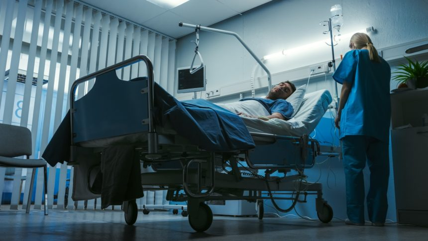 patient in hospital room