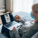 elderly woman telehealth visit