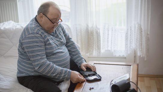 obese man woth diabetes